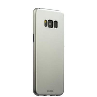 Чехол-накладка пластик Soft touch Deppa Air Case D-83307 для Samsung GALAXY S8+ SM-G955F 1мм Серебристый - фото 32270