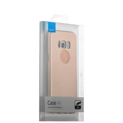Чехол-накладка пластик Soft touch Deppa Air Case D-83309 для Samsung GALAXY S8+ SM-G955F 1мм Розовое золото - фото 30143