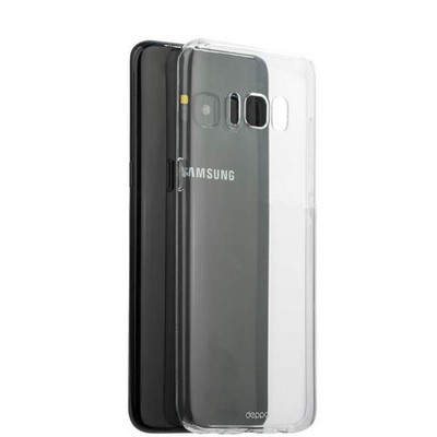 Чехол-накладка силикон Deppa Gel Case D-85304 для Samsung GALAXY S8+ SM-G955F 0.8мм Прозрачный - фото 30145