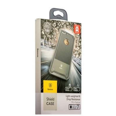 Накладка Baseus ARAPIPH7-TS0G силиконовая Shield Case для iPhone 8/ 7 (4.7) Серая - фото 30148
