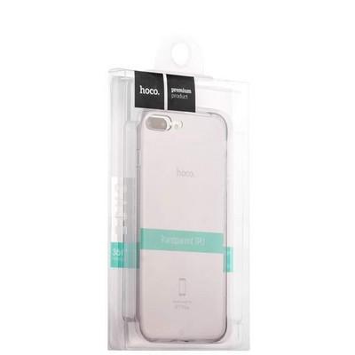 """Чехол силиконовый Hoco Light Series для iPhone 8 Plus/ 7 Plus (5.5"""") Дымчатый - фото 30186"""