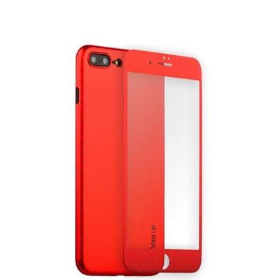 """Чехол-накладка карбоновая Coblue 4D Glass & Carbon Case (2в1) для iPhone 8 Plus/ 7 Plus (5.5"""") Красный - фото 30242"""