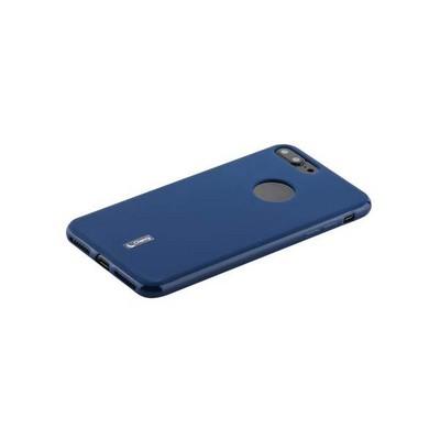 """Чехол-накладка силиконовый Cherry матовый 0.4mm & пленка для iPhone 8 Plus/ 7 Plus (5.5"""") Синий - фото 30423"""