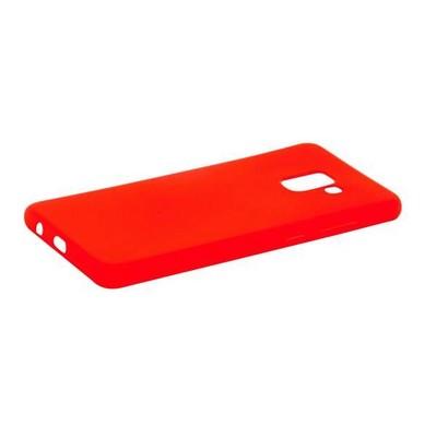 Чехол-накладка силикон Anycase TPU A-140247 для Samsung A730 Galaxy A8 Plus (2018) 1.0мм матовый Красный - фото 30478