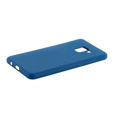 Чехол-накладка силикон Anycase TPU A-140246 для Samsung A730 Galaxy A8 Plus (2018) 1.0мм матовый Синий - фото 30479
