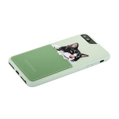 "Накладка JANESPER вышивка для iPhone 8 Plus/ 7 Plus/ 6 Plus (5.5"") JS-IP8PBella-MT Зеленая - фото 30538"