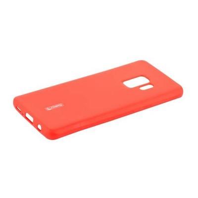 Чехол-накладка силиконовый Cherry матовый 0.4mm & пленка для Samsung Galaxy S9 Красный - фото 30564
