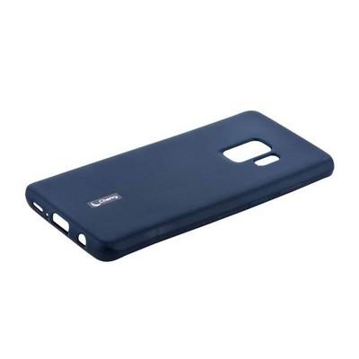 Чехол-накладка силиконовый Cherry матовый 0.4mm & пленка для Samsung Galaxy S9 Синий - фото 30565
