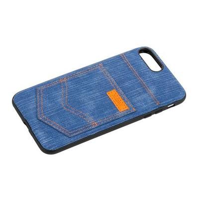"""Чехол-накладка XOOMZ для iPhone 8 Plus/ 7 Plus (5.5"""") Pocket PU Back Cover (XIP7019) джинсовый Голубой - фото 30608"""