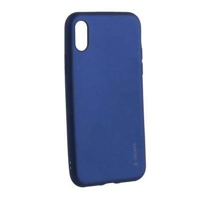 "Чехол-накладка Deppa Case Silk TPU Soft touch D-89041 для iPhone XS/ X (5.8"") 1мм Синий металик - фото 30739"