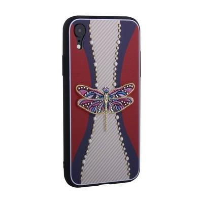 "Накладка силиконовая TOTU Dancing Dragonfly Series -020 для iPhone XR (6.1"") Стрекоза Purple - фото 30765"