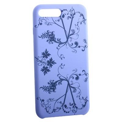"""Чехол-накладка силиконовый Silicone Cover для iPhone 8 Plus/ 7 Plus (5.5"""") Узор Сиреневый - фото 30865"""