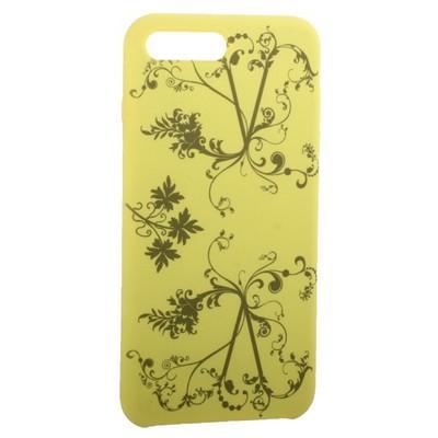 """Чехол-накладка силиконовый Silicone Cover для iPhone 8 Plus/ 7 Plus (5.5"""") Узор Желтый - фото 30866"""