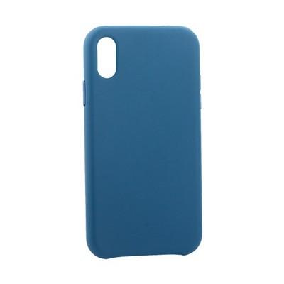 "Чехол-накладка кожаная Leather Case для iPhone XR (6.1"") Blue Голубой - фото 30877"