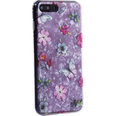 """Чехол-накладка пластиковый MItrifON для iPhone 8 Plus/ 7 Plus (5.5"""") с силиконовыми бортами Розовый вид №5 - фото 31181"""