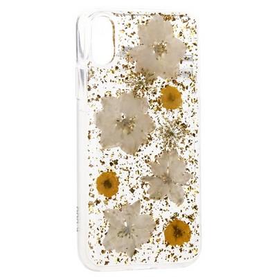 "Чехол-накладка силиконовая K-Doo Flowers TPU+Dried Flowers+Lucite для Iphone XR (6.1"") Желтая - фото 32350"