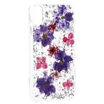 """Чехол-накладка силиконовая K-Doo Flowers TPU+Dried Flowers+Lucite для Iphone XR (6.1"""") Сиреневая - фото 32352"""