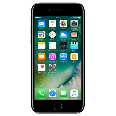 Apple iPhone 7 128Gb Jet Black / Черный Оникс восстановленный А1778 РСТ - фото 5418