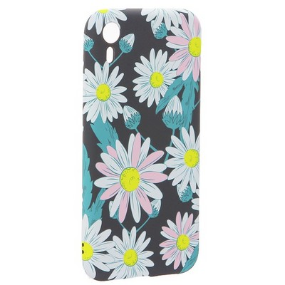 """Чехол-накладка силикон Luxo для iPhone XR (6.1"""") 0.8мм с флуоресцентным рисунком Цветы Черный - фото 31793"""