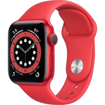Apple Watch Series 6 GPS 40mm (PRODUCT)RED Aluminum Case with PRODUCT(RED) Sport Band (M00A3RU) - фото 31943