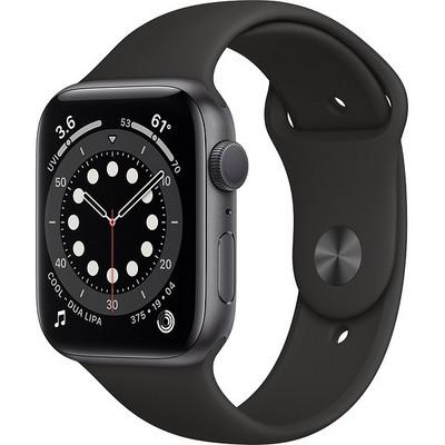 Apple Watch Series 6 GPS 44mm Space Gray Aluminum Case with Black Sport Band (серый космос/черный) (M00H3) - фото 38526