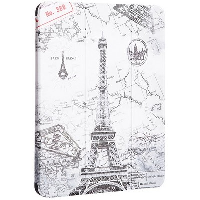 "Чехол-подставка Coblue Case для iPad Pro (11"") 2020г. кожаный вид №1 Париж - фото 39978"