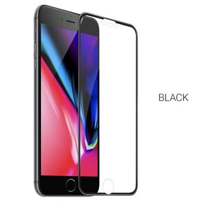 """Стекло защитное Hoco Nano 3D A12 узкие силиконовые рамки для iPhone 8/ 7 (4.7"""") Black - фото 40546"""
