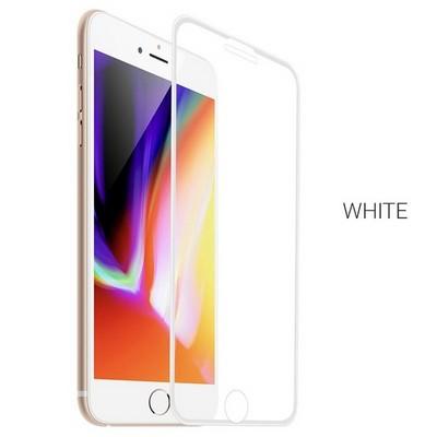 """Стекло защитное Hoco Nano 3D A12 узкие силиконовые рамки для iPhone 8 Plus/ 7 Plus (5.5"""") White - фото 40572"""