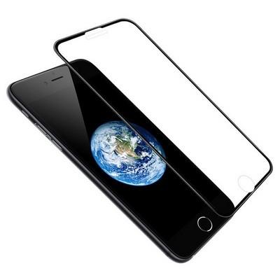 """Стекло защитное Hoco Nano 3D A12 узкие силиконовые рамки для iPhone 8 Plus/ 7 Plus (5.5"""") Black - фото 40548"""