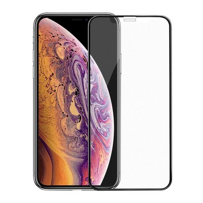 "Стекло защитное Hoco 3D A14 Super smooth матовое для iPhone 11 Pro Max/ XS MAX (6.5"") Black - фото 40550"
