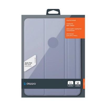 "Чехол-подставка Deppa Wallet Onzo Magnet для iPad Pro (12.9"") 2020-2021г.г. Soft touch 2.0мм (D-88078) Серо-лавандовый - фото 42227"