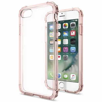 Spigen iPhone 7 Case Crystal Shell Rose Gold - фото 9853