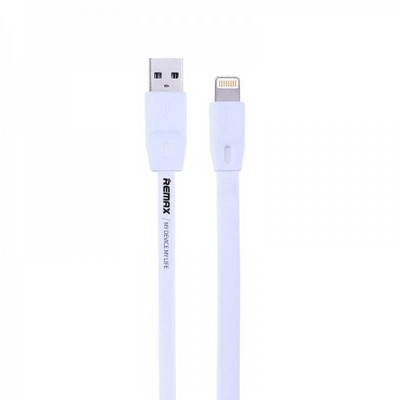 USB дата-кабель Remax Full Speed series для Apple LIGHTNING плоский (1.5 м) белый - фото 9888