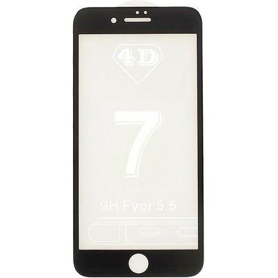 Стекло защитное 4D для iPhone 7 Plus (5.5) Black - фото 9960