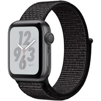 Apple Watch Nike+ Series 4 GPS, 40mm Space Gray Aluminum Case with Black Nike Sport Loop MU7G2 - фото 10527