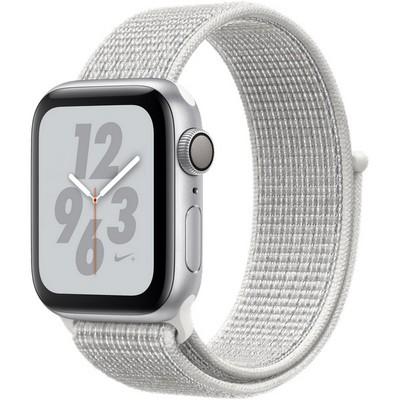Apple Watch Series 4 40mm Nike+ GPS Silver Aluminum Case with Summit White Nike Sport Loop MU7F2 - фото 10524