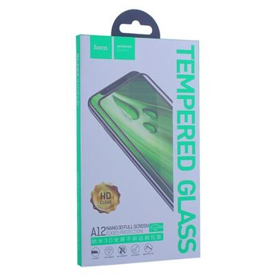 """Стекло защитное Hoco Nano 3D A12 узкие силиконовые рамки для iPhone 11 Pro/ XS/ X (5.8"""") Black - фото 11384"""