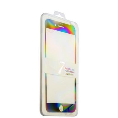 Стекло защитное 2D для iPhone 8 Plus/ 7 Plus (5.5) Black - Premium Tempered Glass 0.26mm скос кромки 2.5D - фото 11495