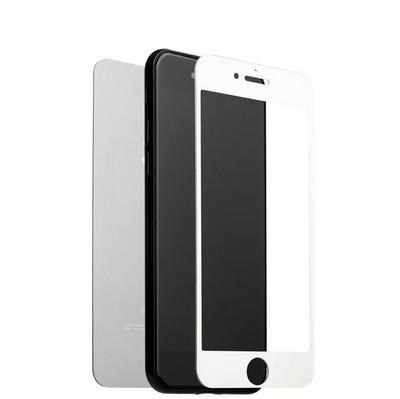 """Стекло защитное для iPhone 8 Plus/ 7 Plus (5.5"""") Silver 2в1 (зеркальное-матовое, 2 стороны) Серебристое - фото 16482"""