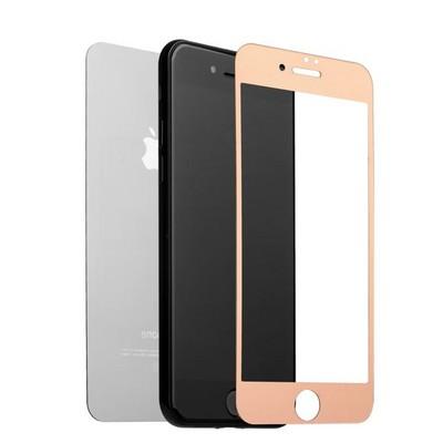 """Стекло защитное для iPhone 8 Plus/ 7 Plus (5.5"""") Rose gold 2в1 (зеркальное-глянцевое, 2 стороны) Розовое золото - фото 16480"""