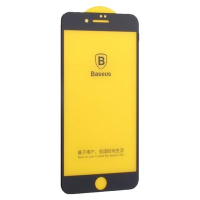 "Стекло защитное Baseus 3D Arc-Surface Anti-Fingerprints SGAPIPH8P-JG01 для iPhone 8 Plus/ 7 Plus (5.5"") 0.30mm Black - фото 11693"