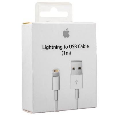 USB дата-кабель для Apple LIGHTNING TO USB CABLE (1.0 м) MD818ZM/A ORIGINAL (с комплекта Iphone 6, 7, 8, X), без упаковки - фото 11797