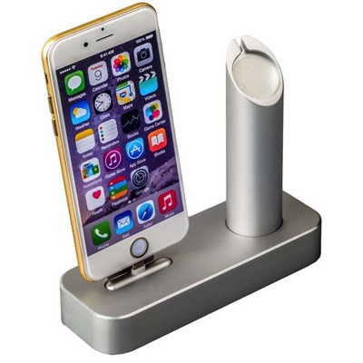 Док-станция COTEetCI Base1 Charging Cradle для Apple Watch & iPhone X/ 8 Plus/ 8/ SE/ iPod stand CS2045-TS Silver - Серебро - фото 11806