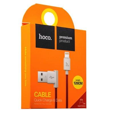 USB дата-кабель Hoco UPL11 L Shape Lightning (1.2 м) Красный - фото 11839