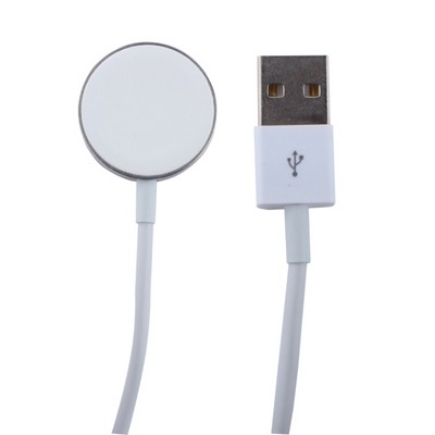 Кабель для зарядки Apple Watch COTEetCI WS-9 (CS5162-1000) Steel Magnet Charging Cable 1м Белый - фото 11850