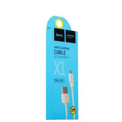 USB дата-кабель Hoco X1 Rapid MicroUSB (1.0 м) Белый - фото 11901