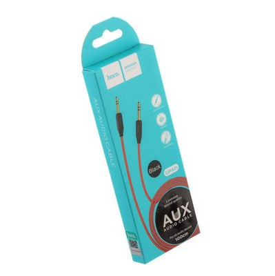 Кабель Hoco UPA11 AUX Audio Cable 3.5mm (1.0 м) Black Черный - фото 11909