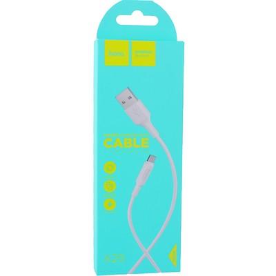 USB дата-кабель Hoco X25 Soarer charging data cable MicroUSB (1.0 м) White - фото 12134