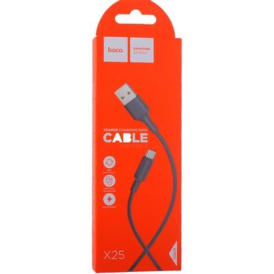 USB дата-кабель Hoco X25 Soarer charging data cable Type-C (1.0 м) Black - фото 12135
