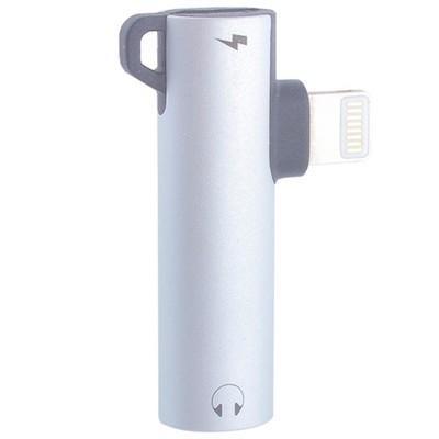 Аудио-переходник Hoco LS21 digital для iPhone XS Max/ XS/ XR/ X/ 8 Plus/ 8/ 7 (выход: 3,5мм & Lightning) Серебристый - фото 12178
